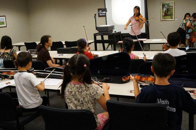 小星星基金会成功举办第四届小提琴学习班 多图